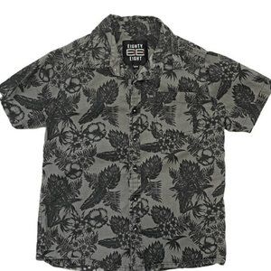 Eighty Eight Tropical Print Button Down Shirt